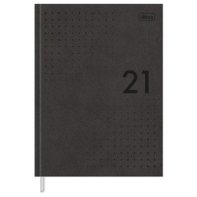 Agenda Diária Prátika Costurada 2021 - Preto - Tilibra