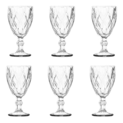 Jogo de Copos Matelassê Transparente - 6 Peças - Dynasty