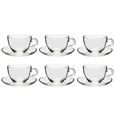 Jogo de Xícaras de Chá Basic - 12 peças - Pasabahce