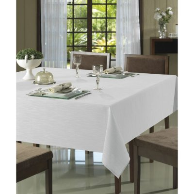 Toalha de Mesa Passion Mantel Branca - 8 Lugares - Döhler Clean