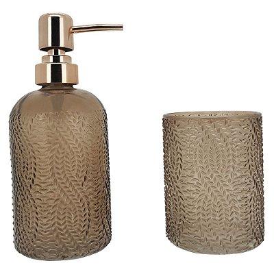 Conjunto para Banheiro Tricô - 2 Peças - Mimo Style