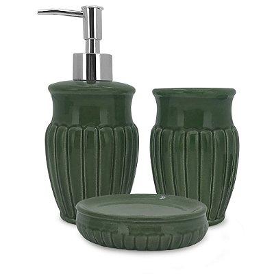 Conjunto para Banheiro Marine Green - 3 Peças - Mimo Style