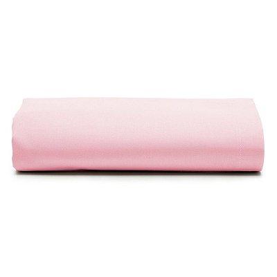 Lençol Com Elástico Prata Casal Liso - Rosa - Santista
