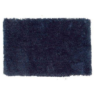 Tapete Microfibra Shaggy Atenas - Azul Marine - Kacyumara