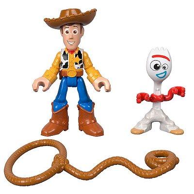 Imaginext Toy Story 4 - Woody e Garfinho - Fisher-Price