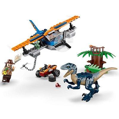 Lego Jurassic World - Velociraptor: Missão de Resgate com Biplano - Lego