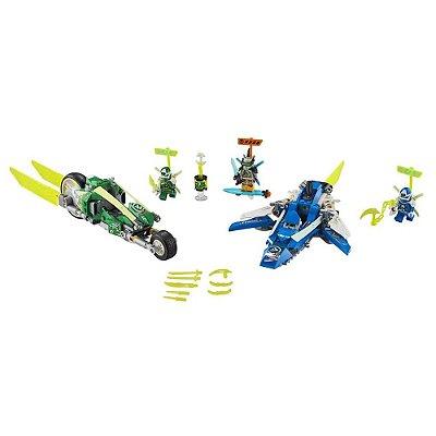 Lego Ninjago - Veículos de Corrida do Jay e do Lloyd
