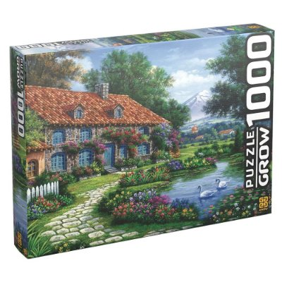 Quebra-Cabeça Recanto dos Cisnes - 1000 peças - Grow