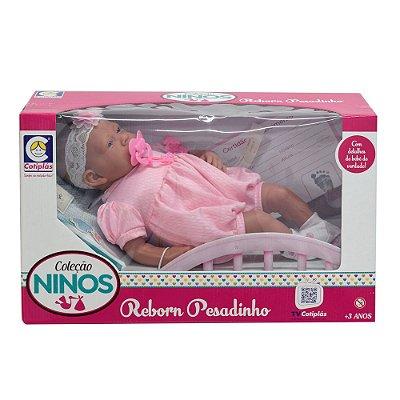 Boneca Ninos Reborn Pesadinho - Menina - Cotiplás