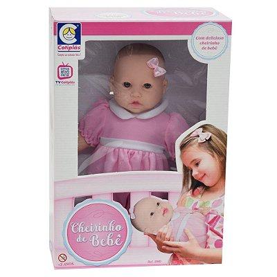 Boneca Cheirinho de Bebê Rosa - Cotiplás