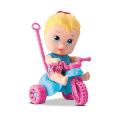 Boneca Little Dolls Menina - Playground Triciclo - Diver Toys