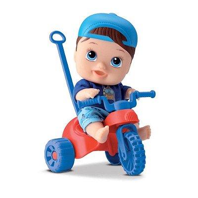 Boneco Little Dolls Menino - Playground Triciclo - Diver Toys