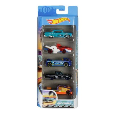 Kit Hot Wheels 5 Unidades - Wave Cravers - Mattel