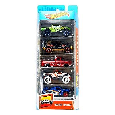 Kit Hot Wheels 5 Unidades - HW Hot Trucks - Mattel