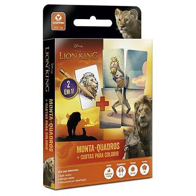 Monta Quadros + Cartas para Colorir - O Rei Leão - Copag