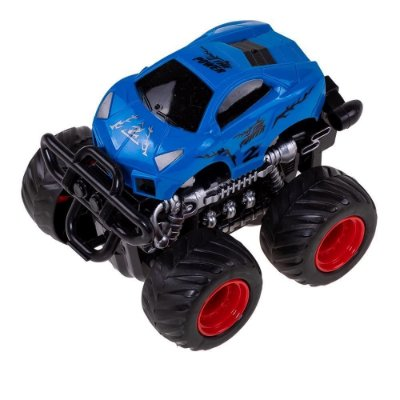Carrinho Monster Truck Express Wheels Fricção - Azul - Multikids