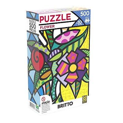 Quebra Cabeça Romero Britto Flower - 500 peças - Grow