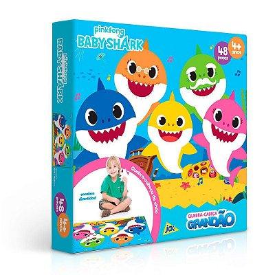 Quebra Cabeça Grandão Baby Shark - 48 peças - Toyster