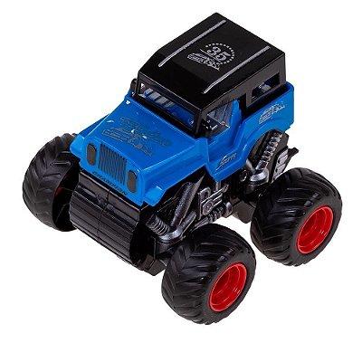 Carrinho Jipe Express Wheels Fricção - Azul - Multikids