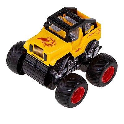 Carrinho Jipe Express Wheels Fricção - Amarelo - Multikids