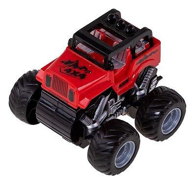 Carrinho Jipe Express Wheels Fricção - Vermelho - Multikids