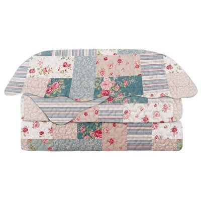 Kit Colcha Evolution Patchwork Solteiro - Lavima - Camesa