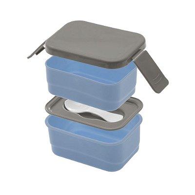 Mini Marmita Prática Com Divisória Móvel - Azul - Paramount