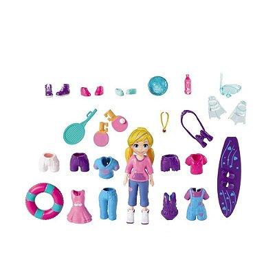 Polly Pocket - Kit Pacote Aventura Incrível - Mattel