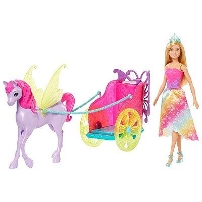 Barbie Princesa Dreamtopia Com Carruagem - Mattel