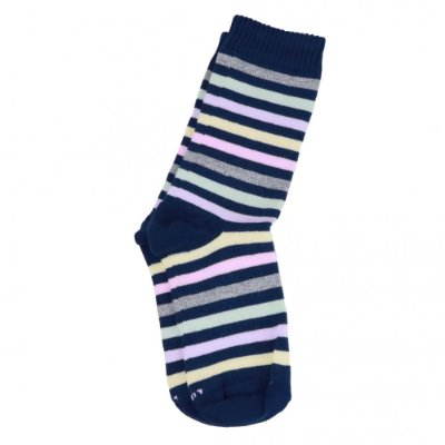 Meia Soquete Feminina Socks Listras Azul - Lupo