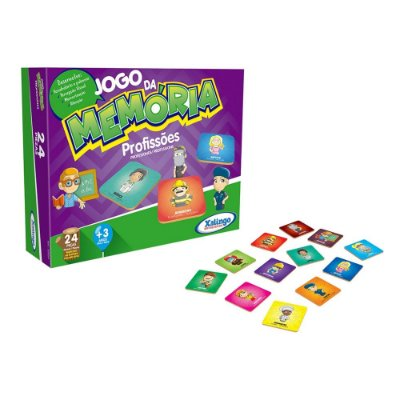 Jogo da Memória Profissões - 24 peças - Xalingo