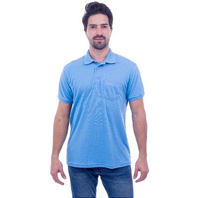 Camisa Polo Masculina - Azul Piscina 675 - Wayna