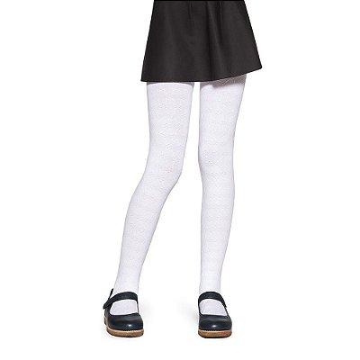 Meia Calça Infantil Delicate Lobinha - Branca - Fio 70 - Lupo
