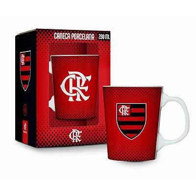Caneca Porcelana Premium 280ml - Flamengo - Brasfoot