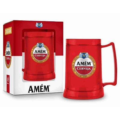 Caneca Gel 300ml - Amém Cerveja - Brasfoot