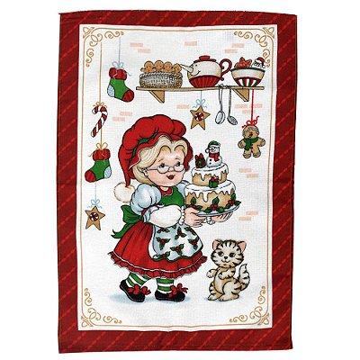 Pano de Copa Felpudo Natal - Mamãe Noel - Döhler