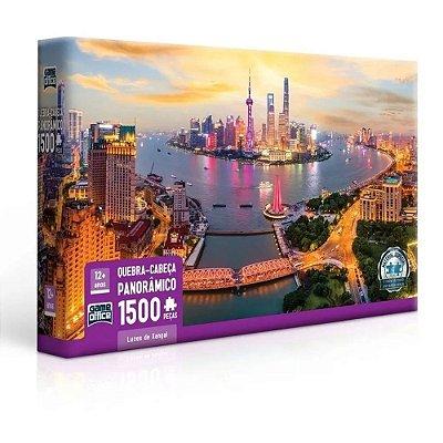 Quebra Cabeça Panorâmico Luzes de Xangai - 1500 peças - Game Office