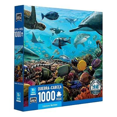Quebra Cabeça Criaturas Marinhas - 1000 peças - Game Office