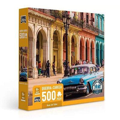 Quebra Cabeça Ruas de Cuba - 500 peças - Game Office