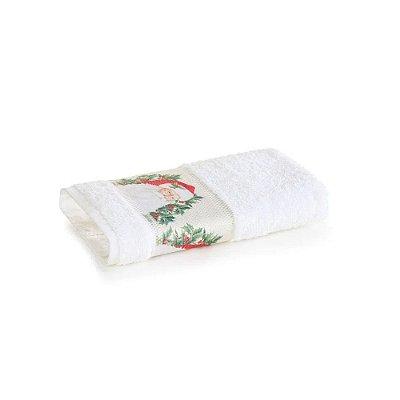 Toalha de Lavabo Branca - Magia do Natal - Karsten