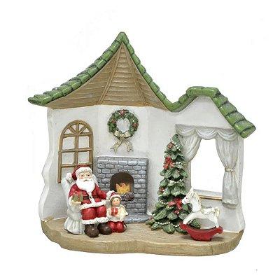 Enfeite de Natal - Cenário Casa do Papa Noel - Espressione Christmas