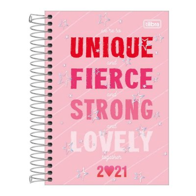Agenda Planner Love Pink 2021 - Unique And Fierce - Tilibra