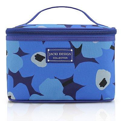 Necessaire Frasqueira Papoula Azul - Jacki Design