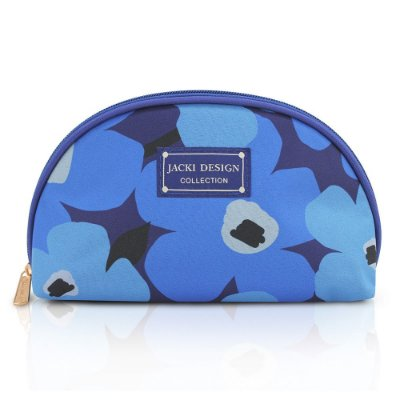 Necessaire Meia Lua Papoula Azul - Jacki Design
