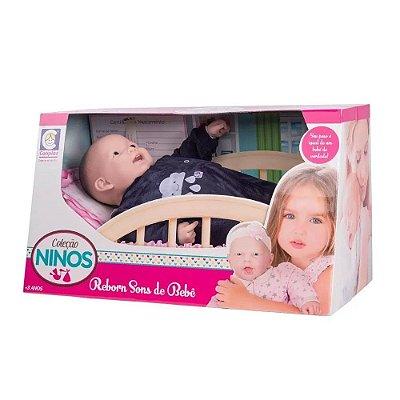 Boneca Ninos Reborn Sons de Bebê - Menino - Cotiplás