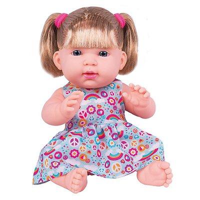 Boneca Luisa - Vestidinho Estampado - Cotiplás