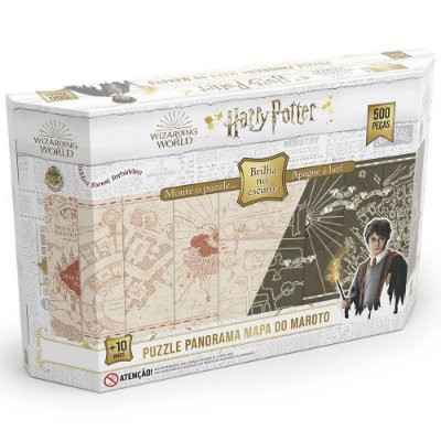 Quebra-Cabeça Panorâmico Harry Potter - Brilha no Escuro - 500 Peças - Grow