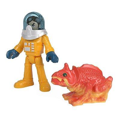 Imaginext Mini Figura Com Acessórios - Astronauta e Extraterrestre - Fisher-Price