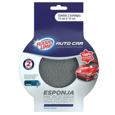 Esponja Microfibra para Polimento Auto Car - 2 peças - Flash Limp