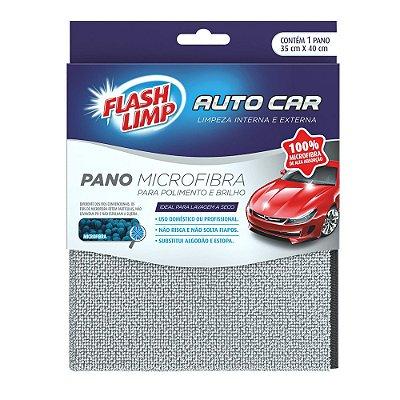 Pano Microfibra para Polimento e Brilho Auto Car - Flash Limp
